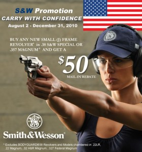 $50 Rebate on S&W small arms