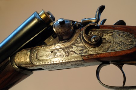Engraved Shotgun