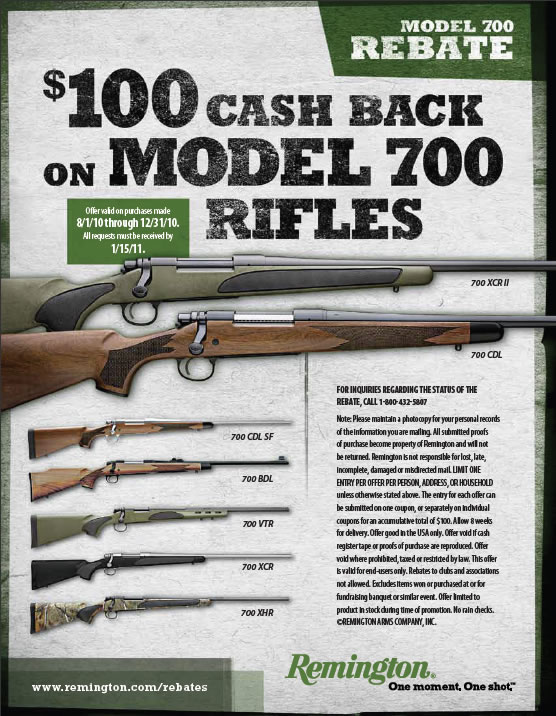 Remington $100 Rebate