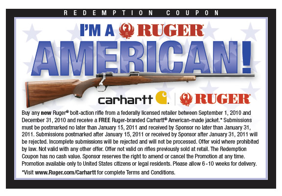 rugercoupon1 Ruger