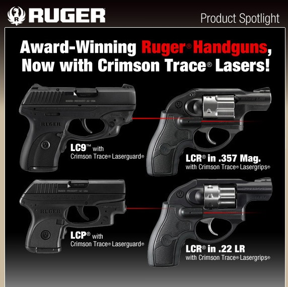 Ruger with Crimson Trace