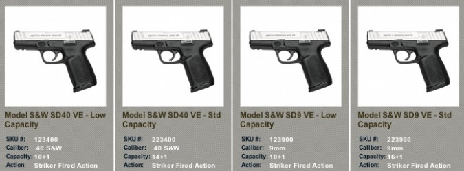 NEW SD9 VE™ and SD40 VE™ SELF DEFENSE PISTOLS