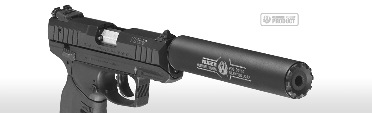 RUGER® SILENT-SR™, A .22 LR SUPPRESSOR DESIGNED AND BUILT BY RUGER.