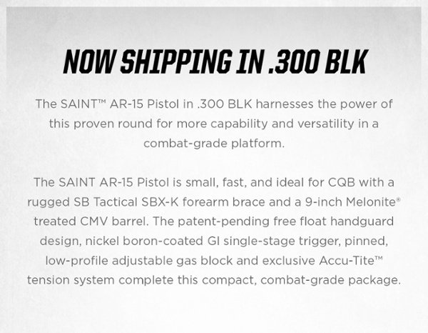 SAINTPistol 300BLK Consumer NowShipping 1 3