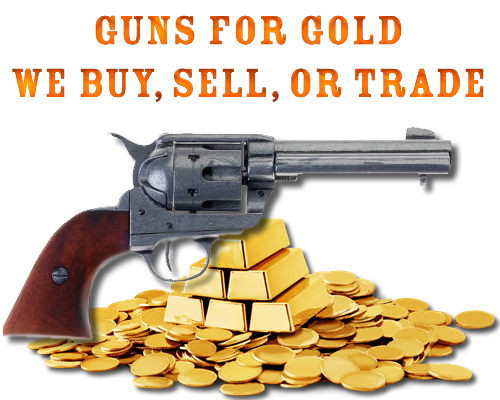 We buy your gold, silver, or platinum at a fair price. We will take your gold, silver and platinum in on your purchase of a firearm. We will sell you guns for gold, silver, or platinum. We are taking gold for guns! This is a new service at Nesbit's Gun Store. We will assay and pay you a fair price for your precious metals. You can take the cash, or put the value towards a firearms purchase of your choice: rifles, shotguns, pistols or revolvers.