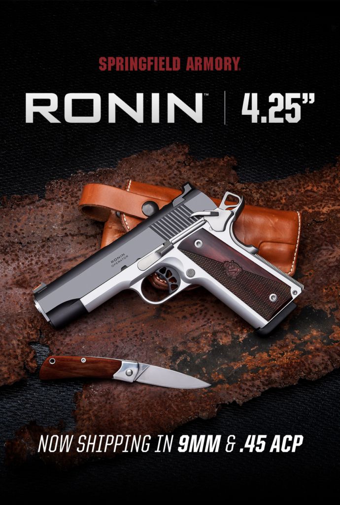 Available in 9mm and .45 ACP, the Ronin Operator 4.25""
